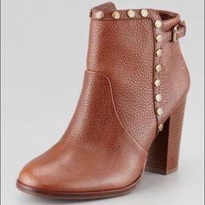Authentic TORY BURCH Cognac Ankle Boots Size 10